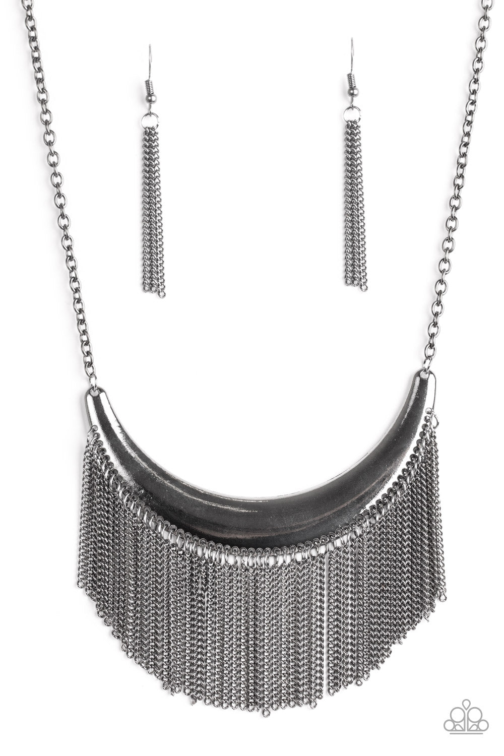 Paparazzi Accessories - Zoo Zone - Black Necklace Set - JMJ Jewelry Collection