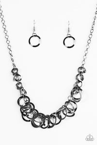 Paparazzi Accessories - Royal Circus - Black Necklace Set - JMJ Jewelry Collection
