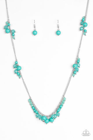 Paparazzi Accessories - Coral Reefs - Green Necklace Set - JMJ Jewelry Collection