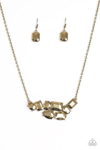 Paparazzi Accessories - Urban Dynasty - Brass Necklace Set - JMJ Jewelry Collection