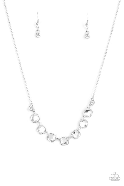 Paparazzi Accessories - Deluxe Luxe - White Necklace Set - JMJ Jewelry Collection
