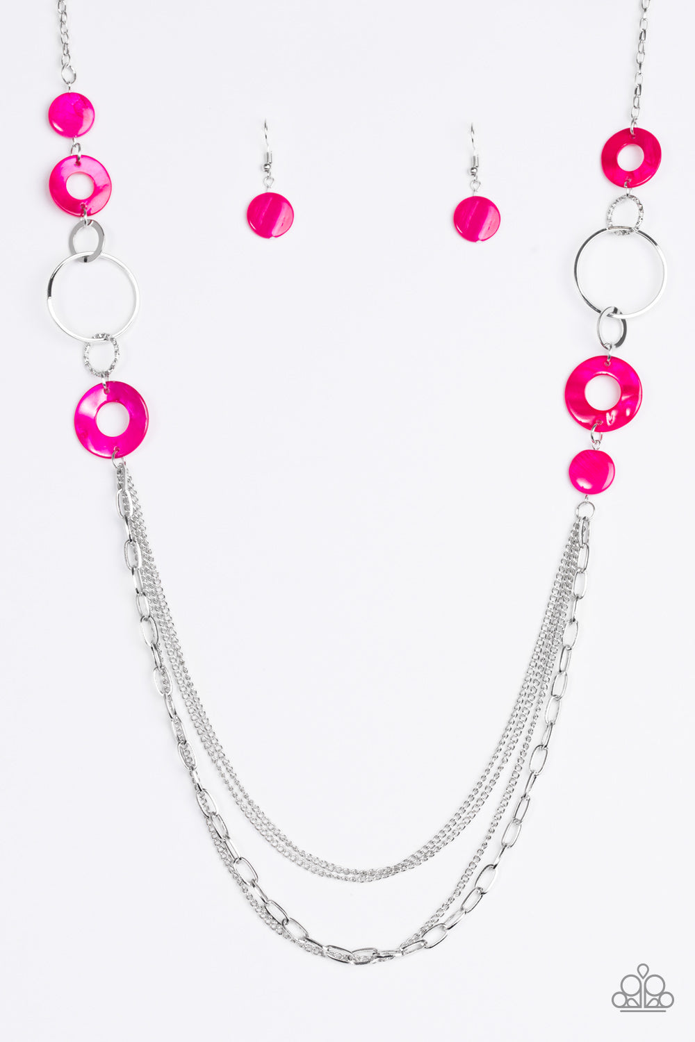 Paparazzi Accessories - Tropical Sunsets - Pink Necklace Set - JMJ Jewelry Collection