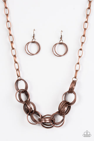 Paparazzi Accessories - Statement Made - Copper Necklace Set - JMJ Jewelry Collection