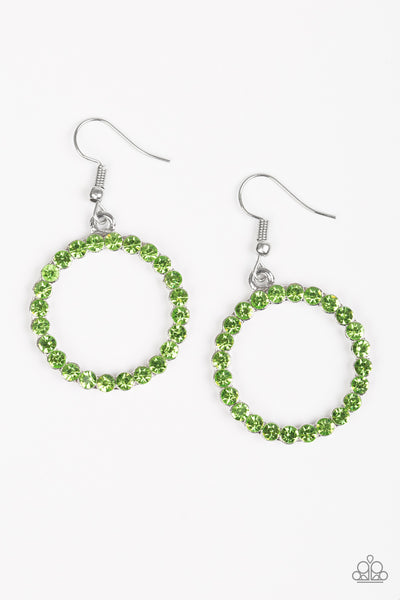 Paparazzi Accessories - Bubblicious - Green Earrings - JMJ Jewelry Collection