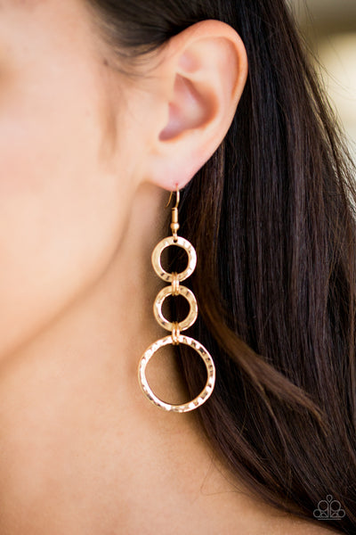 Paparazzi Accessories - Radical Revolution - Gold Earrings - JMJ Jewelry Collection