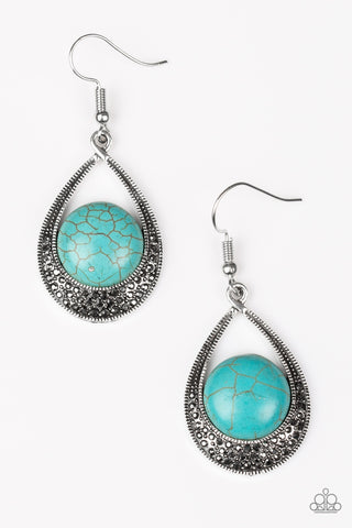 Paparazzi Accessories - Richly Rio Rancho - Blue Earrings - JMJ Jewelry Collection