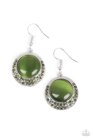 Paparazzi Accessories - Gleam Away - Green Earrings - JMJ Jewelry Collection