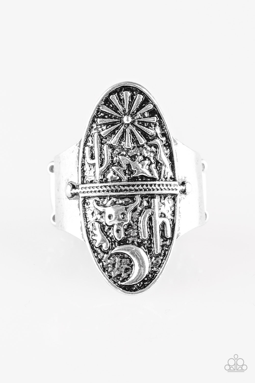 Paparazzi Accessories - Desert Paradise - Silver Ring - JMJ Jewelry Collection