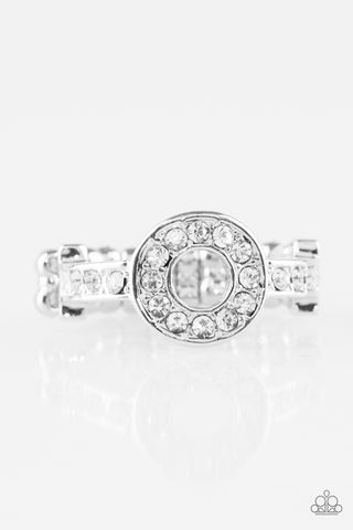 Paparazzi Accessories - The One and Only Sparkle - White Ring - JMJ Jewelry Collection