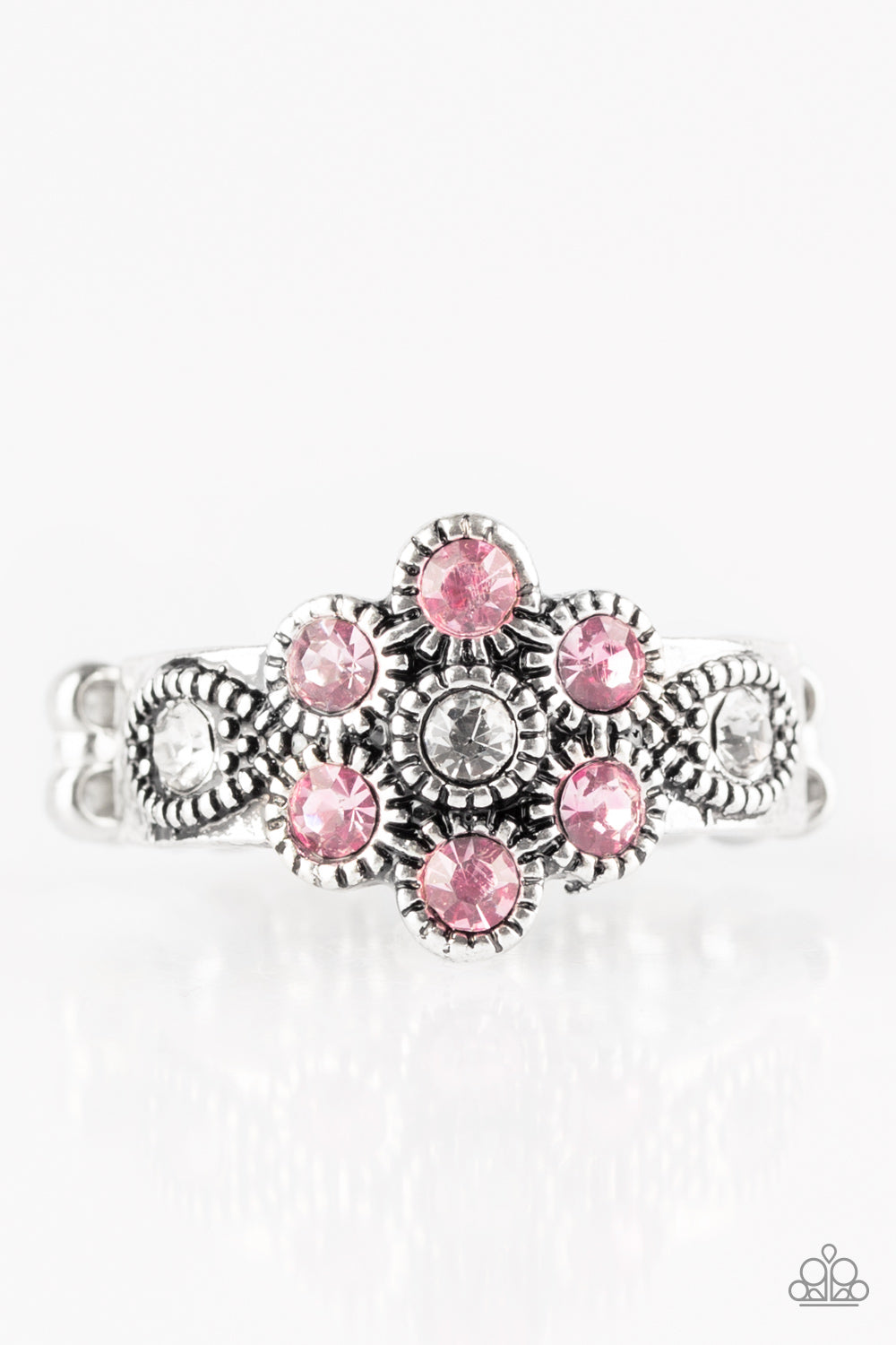 Paparazzi Accessories - Garland Glamour - Pink Ring - JMJ Jewelry Collection