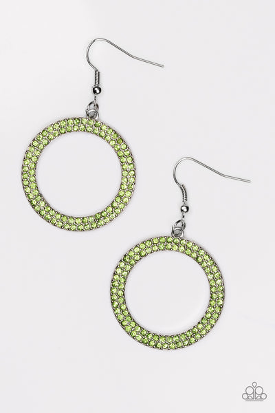 Paparazzi Accessories - Bubbly Babe - Green Earrings - JMJ Jewelry Collection