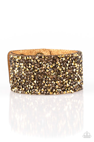 Paparazzi Accessories - More Bang For Your Buck - Brass Bracelets - JMJ Jewelry Collection