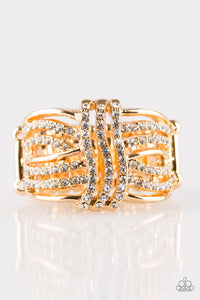 Paparazzi Accessories - Showbiz Beauty - Gold Ring - JMJ Jewelry Collection