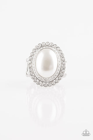 Paparazzi Accessories - Opulently Olympian - White Ring - JMJ Jewelry Collection