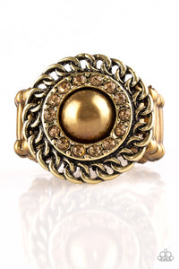 Paparazzi Accessories - Big City Attitude - Brass Ring - JMJ Jewelry Collection
