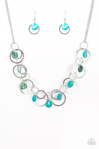Paparazzi Accessories - A Hot SHELL-er - Blue Necklace Set - JMJ Jewelry Collection