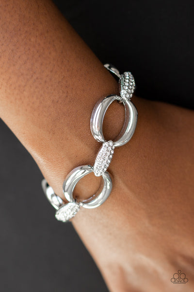 Paparazzi Accessories - Dont Forget Whos Boss! - White Bracelets - JMJ Jewelry Collection