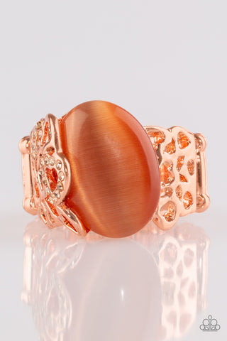 Paparazzi Accessories - So In Love - Copper Ring - JMJ Jewelry Collection