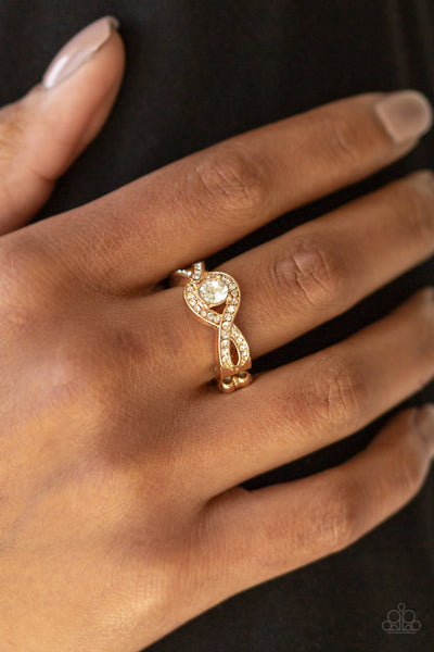 Paparazzi Accessories - GLAM Of Thrones - Gold Ring - JMJ Jewelry Collection