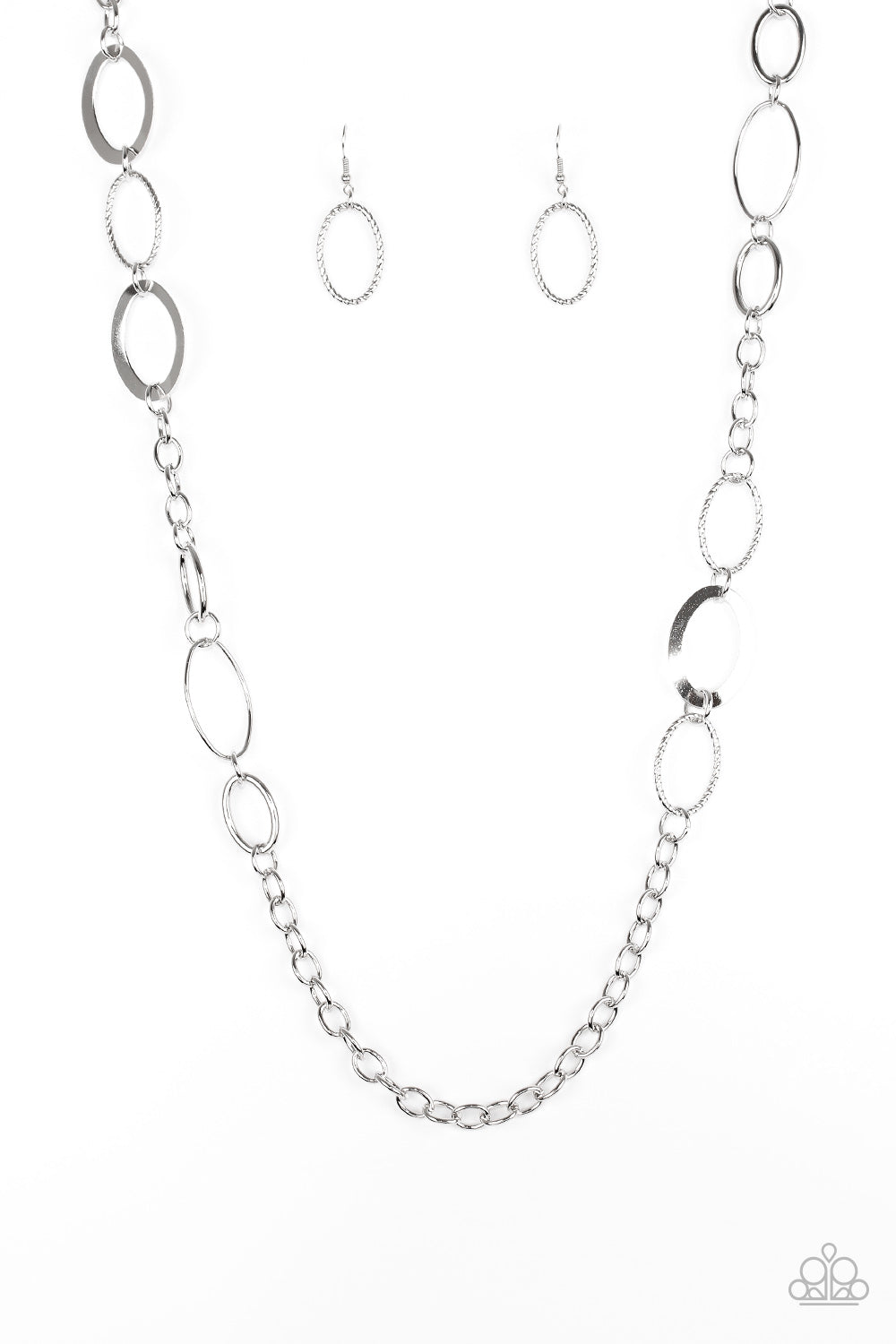 Paparazzi Accessories - Chain Cadence - Silver Necklace Set - JMJ Jewelry Collection