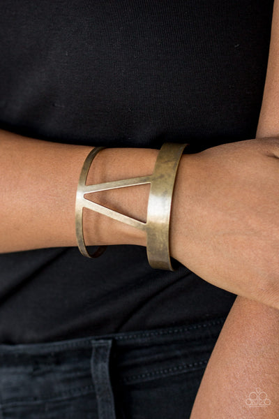 Paparazzi Accessories - Rural Ruler - Brass Bracelet - JMJ Jewelry Collection