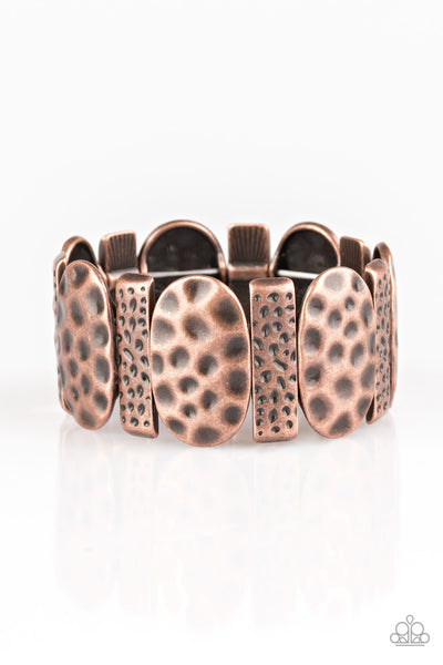 Paparazzi Accessories - Cave Cache - Copper Bracelet - JMJ Jewelry Collection