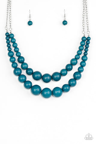 Paparazzi Accessories - Full BEAD Ahead! - Blue Necklace Set - JMJ Jewelry Collection