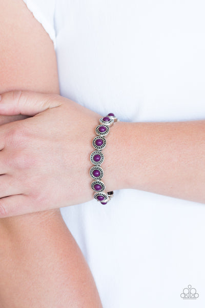 Paparazzi Accessories - Globetrotter Goals - Purple Bracelets - JMJ Jewelry Collection
