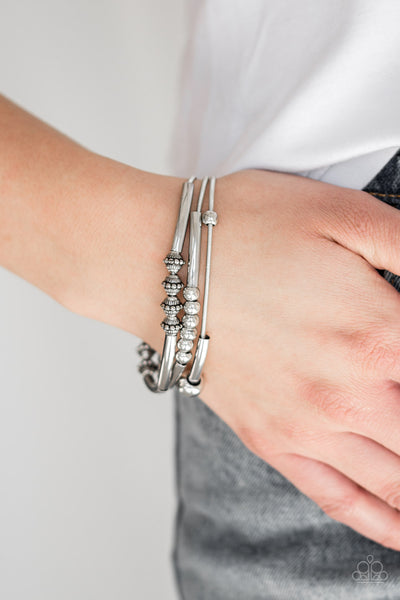 Paparazzi Accessories - Industrial Instincts - Silver Bracelets - JMJ Jewelry Collection