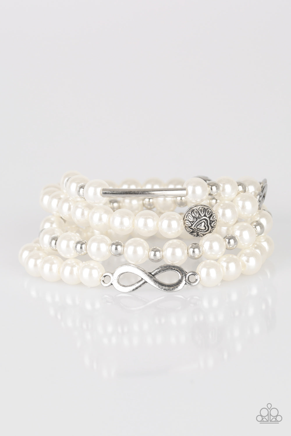 Paparazzi Accessories - Limitless Luxury - White Bracelets - JMJ Jewelry Collection