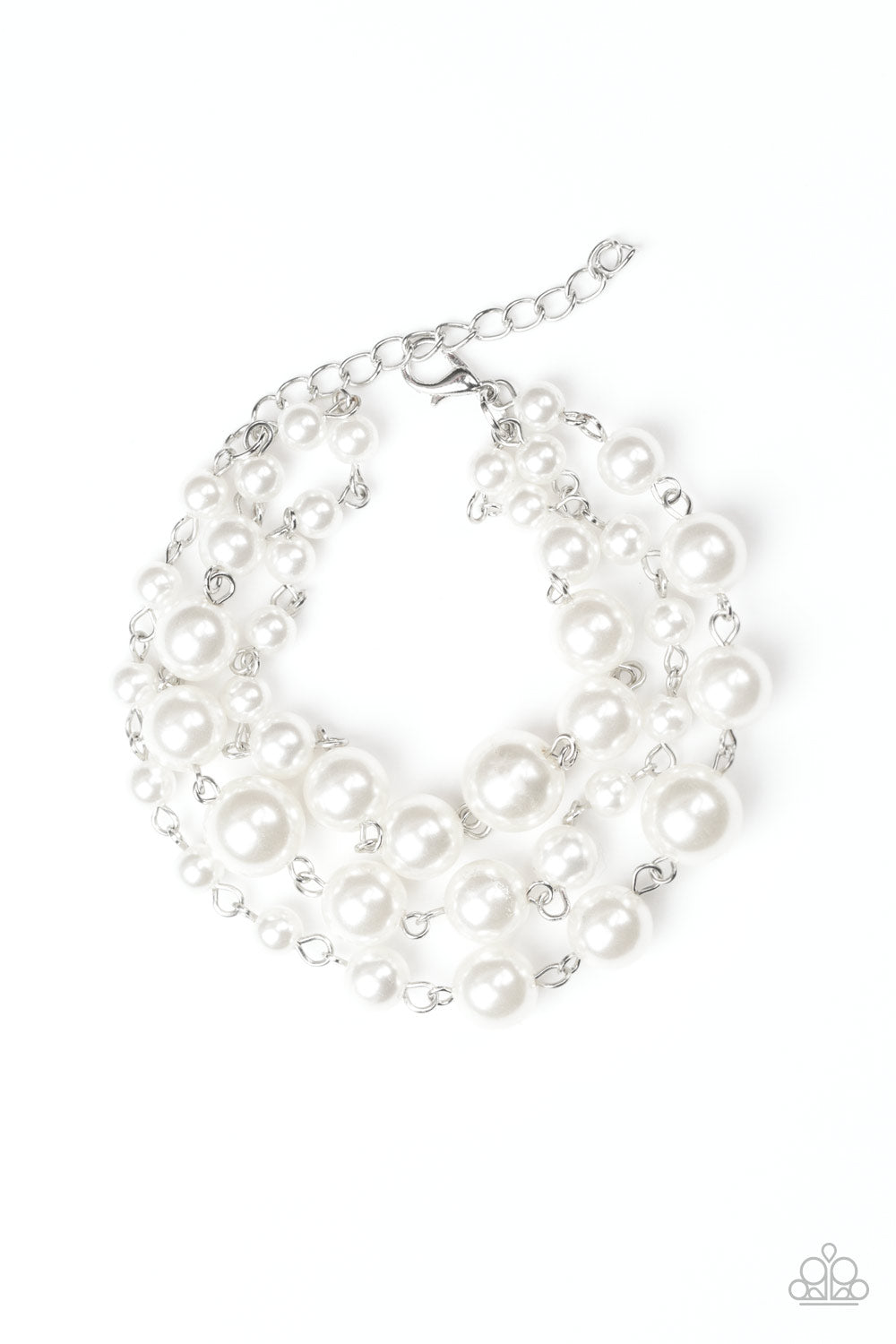 Paparazzi Accessories - Until The End Of TIMELESS - White Bracelet - JMJ Jewelry Collection
