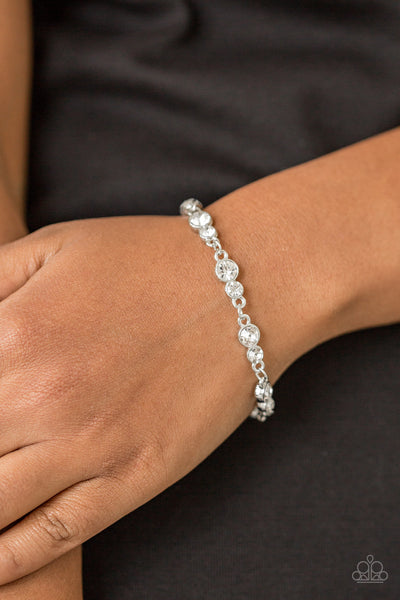 Paparazzi Accessories - Twinkle Twinkle Little STARLET- White Bracelets - JMJ Jewelry Collection