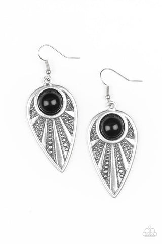 Paparazzi Accessories - Take A WALKABOUT - Black Earrings - JMJ Jewelry Collection