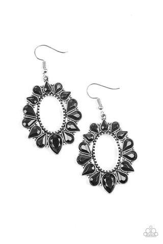 Paparazzi Accessories - Fashionista Flavor - Black Earrings - JMJ Jewelry Collection