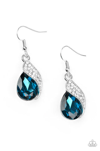 Paparazzi Accessories - Easy Elegance - Blue Earrings - JMJ Jewelry Collection