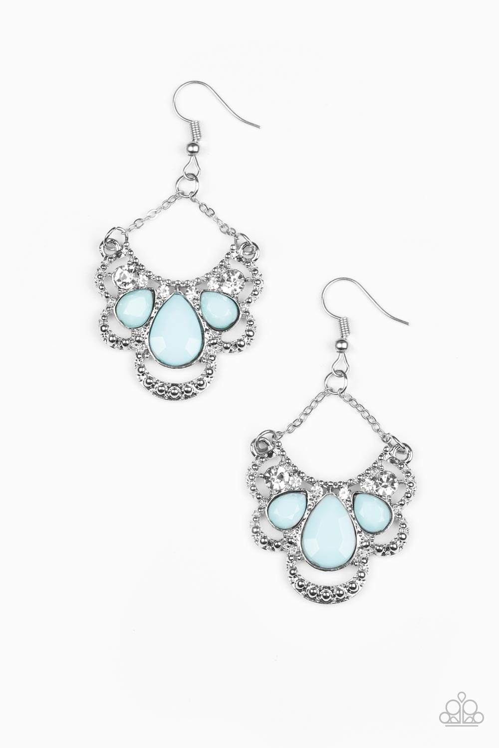 Paparazzi Accessories - Caribbean Royalty - Blue Earrings - JMJ Jewelry Collection