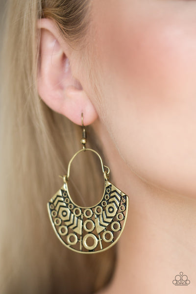 Paparazzi Accessories - Indigenous Idol - Brass Earrings - JMJ Jewelry Collection