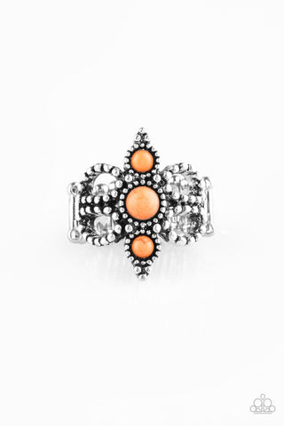 Paparazzi Accessories - Outback Oasis - Orange Ring - JMJ Jewelry Collection