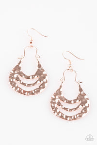 Paparazzi Accessories - Hang ZEN! - Rose Gold Earrings - JMJ Jewelry Collection