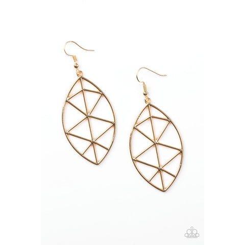 Paparazzi Accessories -   Unbreakable - Gold Earrings - JMJ Jewelry Collection