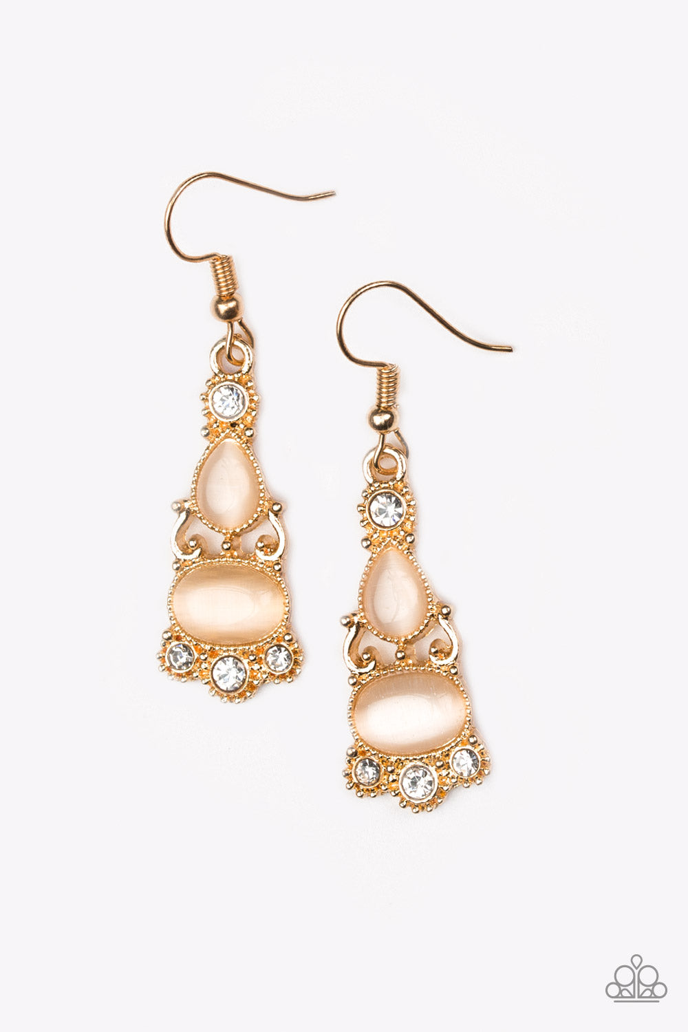 Paparazzi Accessories - Push Your LUXE - Gold Earrings - JMJ Jewelry Collection