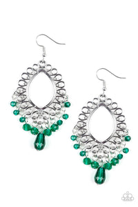 Paparazzi Accessories - Just Say NOIR - Green Earrings - JMJ Jewelry Collection