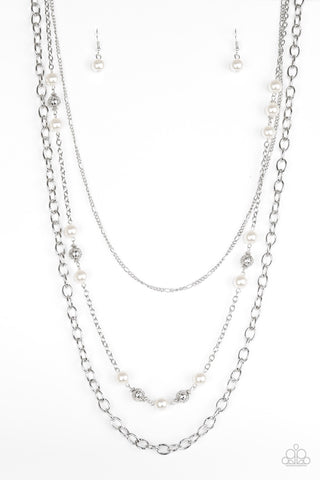 Paparazzi Accessories - Classical Cadence - White Necklace Set - JMJ Jewelry Collection