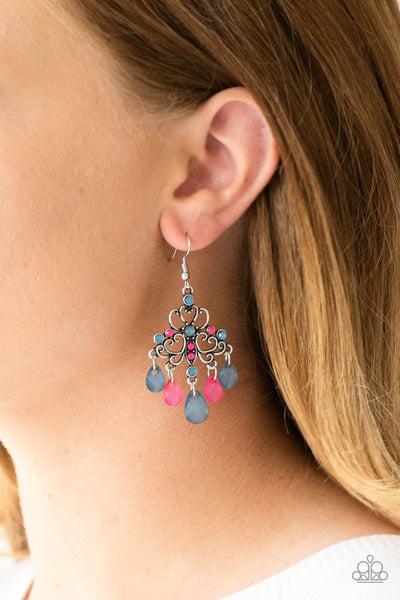 Paparazzi Accessories - Dip It GLOW - Multicolor Earrings - JMJ Jewelry Collection