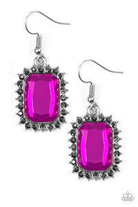 Paparazzi Accessories - Downtown Dapper - Pink Earrings - JMJ Jewelry Collection