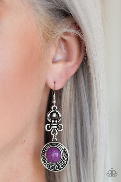 Paparazzi Accessories - Southern Serenity - Purple Earrings - JMJ Jewelry Collection
