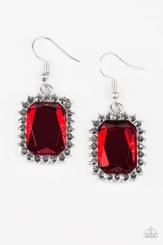 Paparazzi Accessories - Downtown Dapper - Red Earrings