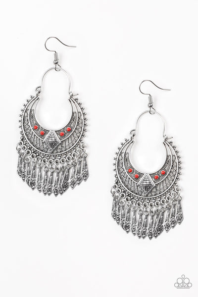 Paparazzi Accessories - Walk On The Wildside - Red Earrings - JMJ Jewelry Collection