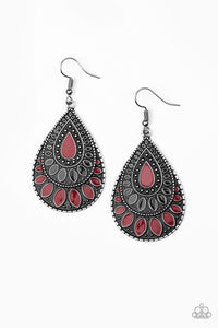 Paparazzi Accessories - Westside Wildside - Red Earrings - JMJ Jewelry Collection