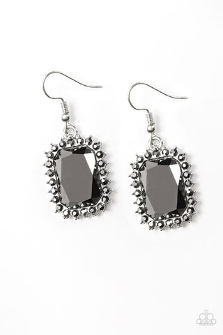 Paparazzi Accessories - Downtown Dapper - Silver Earrings